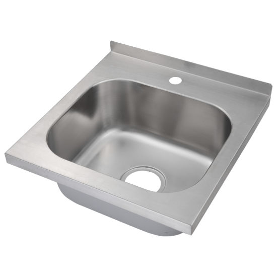 Stainless Steel Commercial Hand Sink, Hand Wash Basin (C46X46X20)