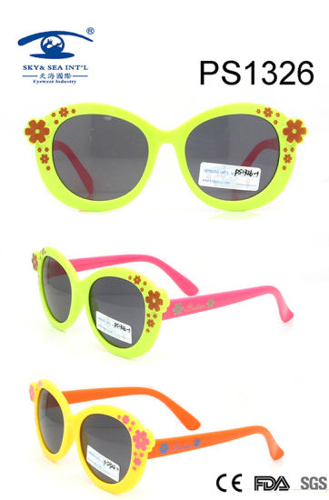 Light Flower Colorful Children Kid Plastic Sunglasses (PS1326) pictures & photos