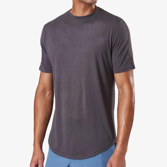 Wholesale O-Neck Cotton Custom Logo Printing T Shirt Men