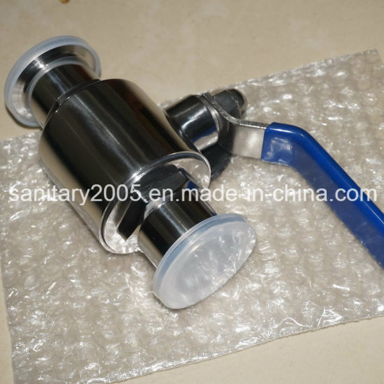 Sanitary Clamped Straight Ball Valve by Manual