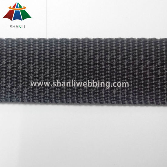 7/8 Inch Black Flat PP Webbing