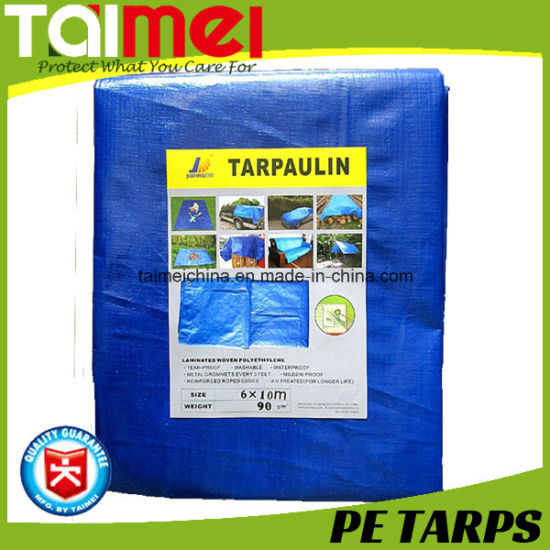 Blue 45gsm Tarpaulin Waterproof Car Boat Cover Tarp Finished Sizes On Sale Outdoor Sports