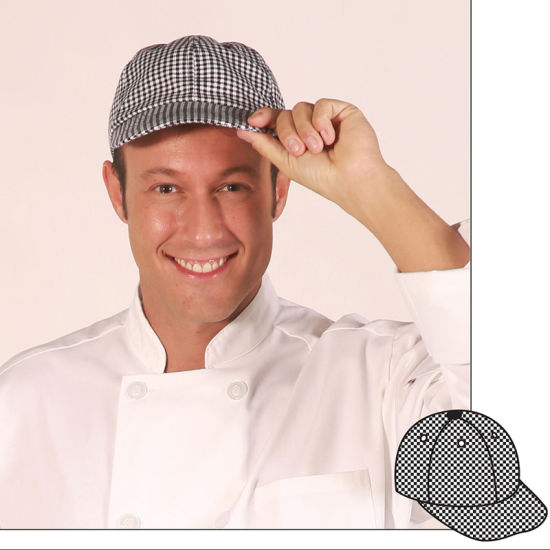 Baseball Chef Kitchen Checkered Cloth Cap