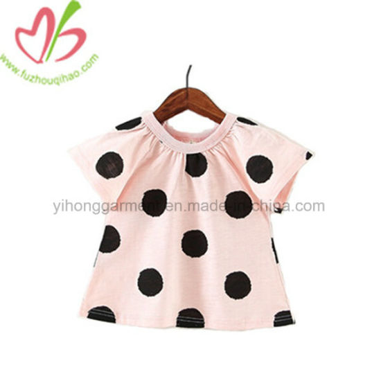 Summer Fashion Polka DOT Baby Girl Tops Pink