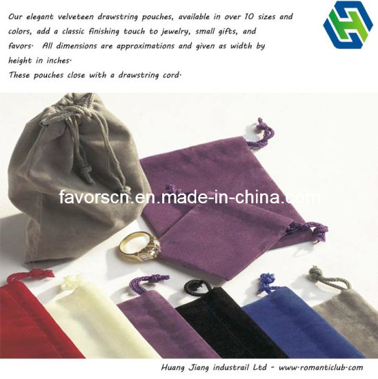 3x4 Jewelry Pouches Velour Velvet Gift Bags Pack of 25 PCS 10 Colors Available
