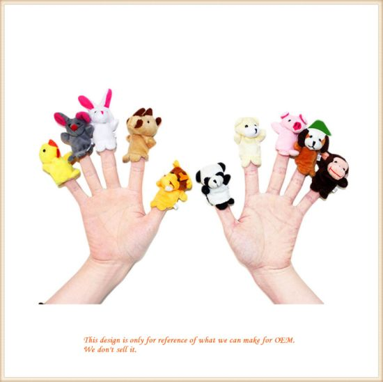 Lovely Animal Finger Puppet Toy Plush Hand Toys pictures & photos