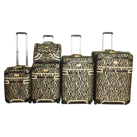 PU Leather Trolley Luggage Travel Bag Jb1502 pictures & photos