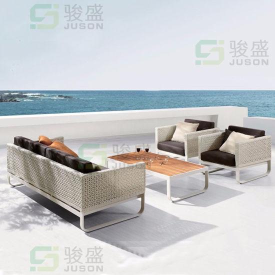 Hotel Sale Modern Garden Sofa Set Outdoor Wicker Rattan Sofa Furniture Patio Sofa