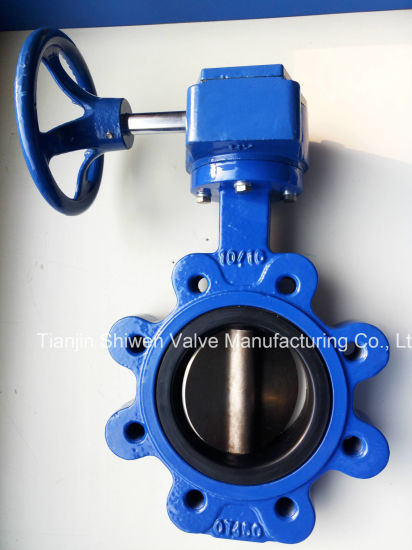 Ss304 Disc PTFE Seat Wafer Butterfly Valve with Gear Actuator pictures & photos