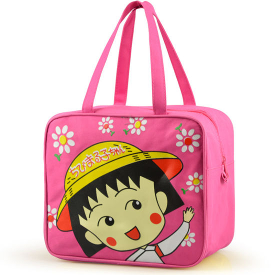 China Wholesale Square Shape Insulated Lunch Bag for School Students with Large Capacity