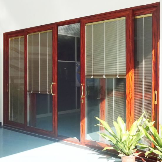 Country Style Interior Aluminum Sliding Doors Wholesale with Locks for pictures & photos