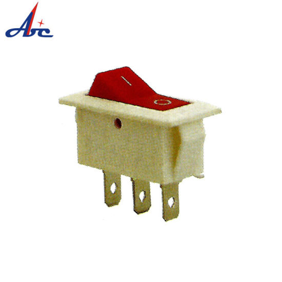 China Kcd3-102- 8 White Housing and Red Button on-on Rocker Switch