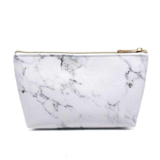 New Style Marble PU Makeup Bag Ladies Cosmetic Bag