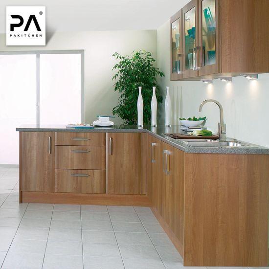 China Wholesale Modern Wood Finished L Shaped Kitchen Cabinet Unit China Kitchen Cabinet Kitchen Furniture