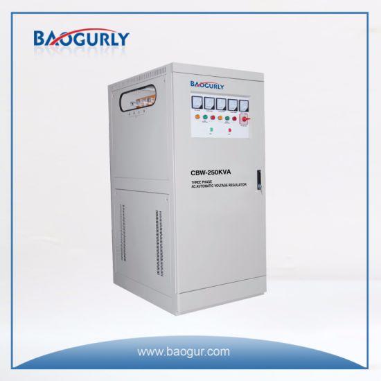 Three Phase Meter Display Cbw-250kVA Industrial Voltage Stabilizer
