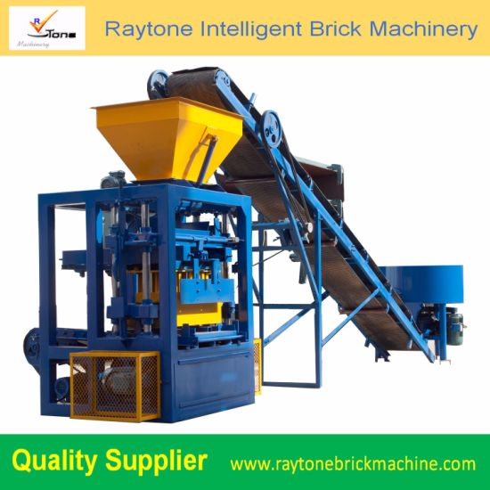 Qt4-24 Low Price Concrete Small Block Machine Hollow Brick Making Machine