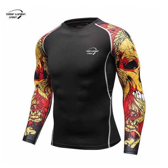 Cody Lundin OEM Running Tshirts Sportswear Custom Long Sleeve T Shirt Printed Quick Dry Polyester T-Shirt Dry Fit