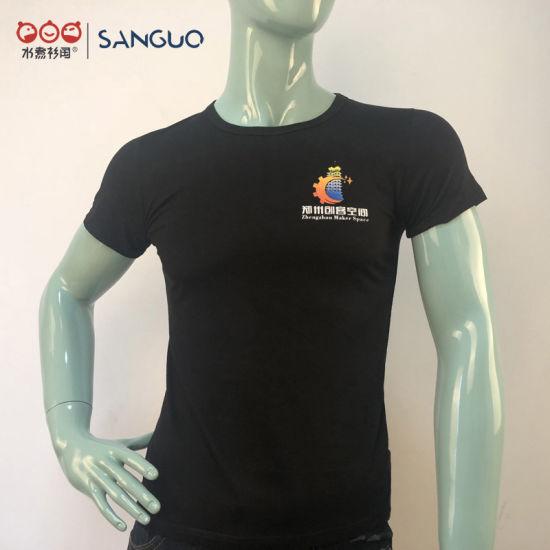 Custom Logo Printed Cotton Uniform Round Neck T Shirt Printing