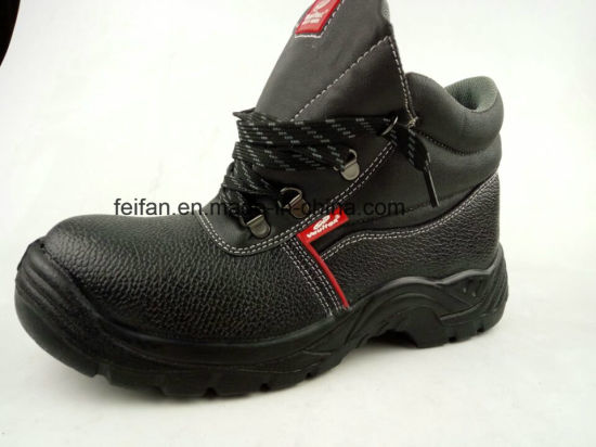 Fashionable Leather Steel Toe Protection High Cut Safety Shoes for Construction Workers pictures & photos