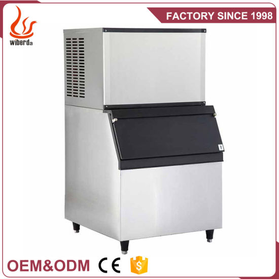 Junjian Factory Commercial Stainless Steel Cube Ice Machine Maker pictures & photos