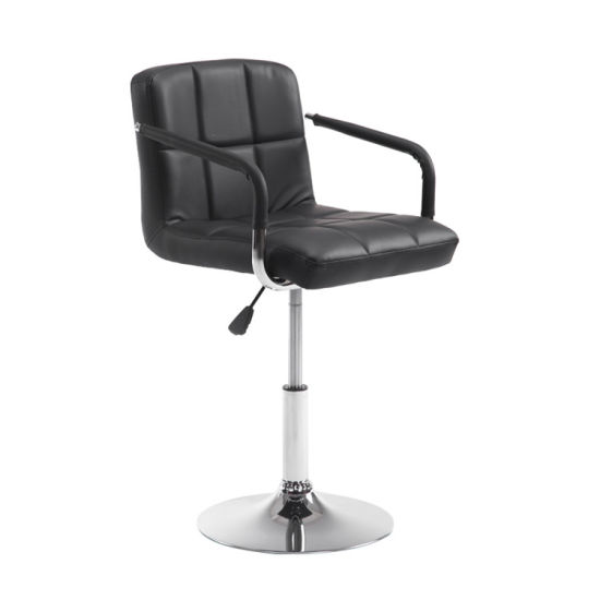 PU Leather Swivel Bar Stool Adjustable with Stable Base Chair