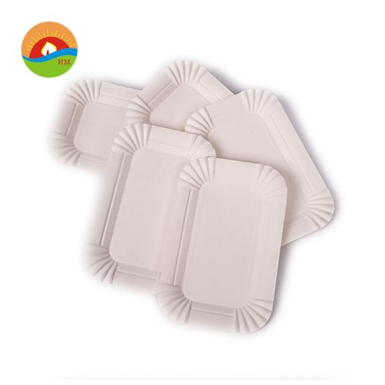 White Color 16cm Paper Cake Plate
