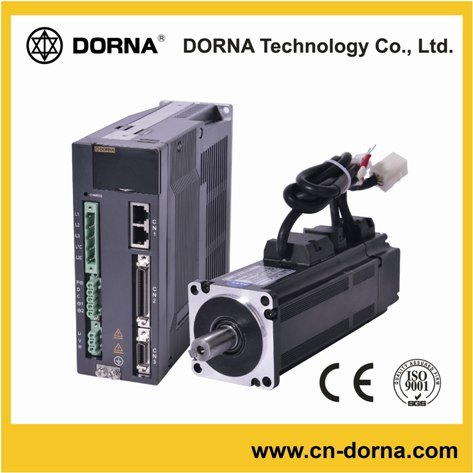 750W 80mm Flange Dorna Brushless AC Servo Motor for Machine Tools