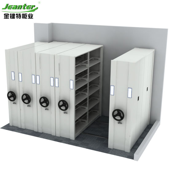 China Metal Mobile Shelving Shelves For Doent Chamber
