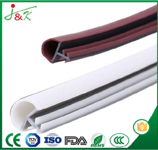 U Metal Edge Clamp Door Rubber Seal Strip with Custom Thickness pictures & photos