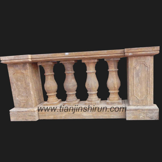Balustrade, Railing, Antique Marble Carving (HA1019)