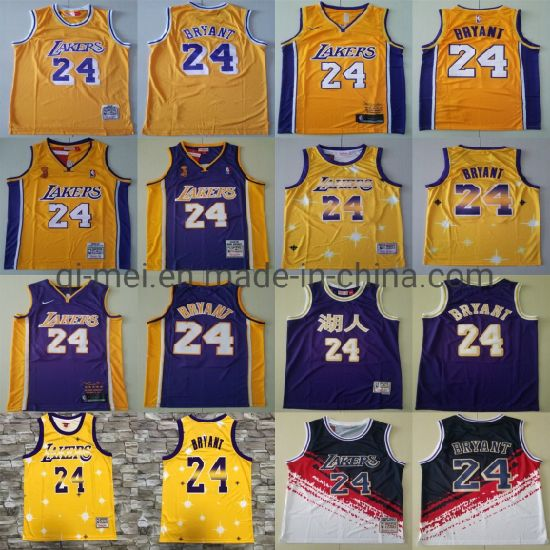 Lakers 24 K-Obe Bryant Cooperstown Hard Wood Classic Basketball Jerseys