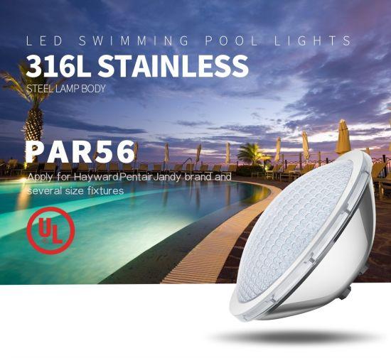 25W 12V Stainless Steel Outdoor Underwater Lamp IP68 PAR56 LED Swimming Pool Light