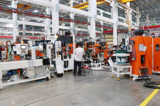 Refrigerator compressor arc automatic welding production line