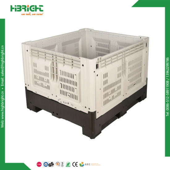 Plastic Large Collapsible Storage Crate pictures & photos