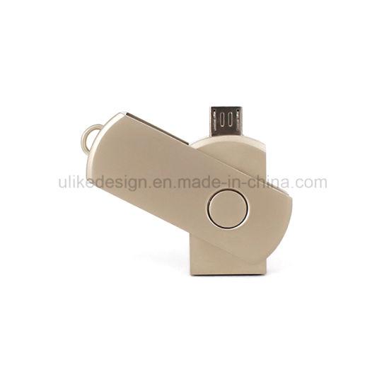 Hot Sale Bulk Cheap USB Flash Drive Twist OTG USB Pen Drive Factory Supplying USB Flash Disk/ USB 2.0 USB 3.0