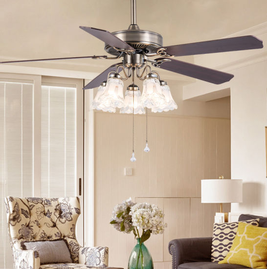 Modern 42 Inch Nature Wind Remote Control Decorative Fan Lamp