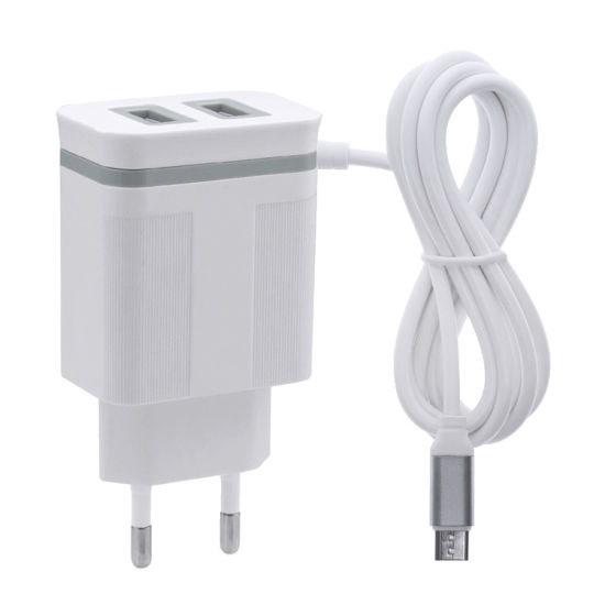 EU Double Ports USB Charger 5V2.1A USB Home Charger Adapter