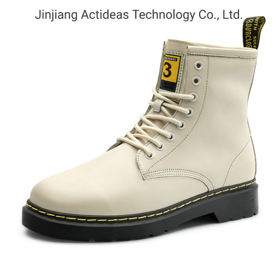 Latest High Top Winter Fashion Casual Sports Shoes White Leather Women Boots