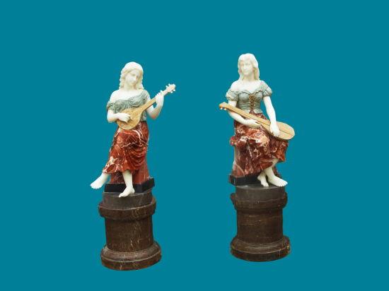Violin Lady Marble Sculpture (STT321)