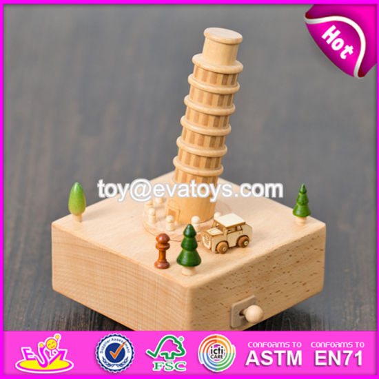 Handmade DIY Crafts Natural Beech Wood Kids Music Box W07b040 pictures & photos
