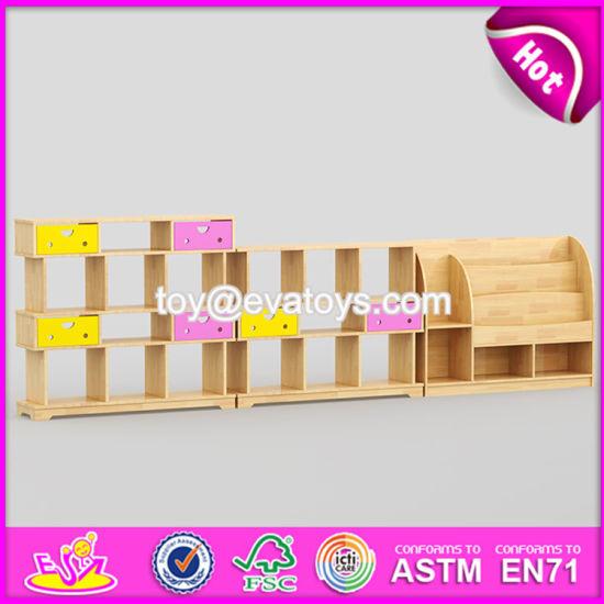 Best Design Nursery School Children Bedroom Furniture Wooden Kids Bookshelf W08c177