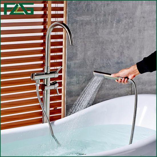 Flg Bathroom Mounted Freestanding Floor Standing Faucet