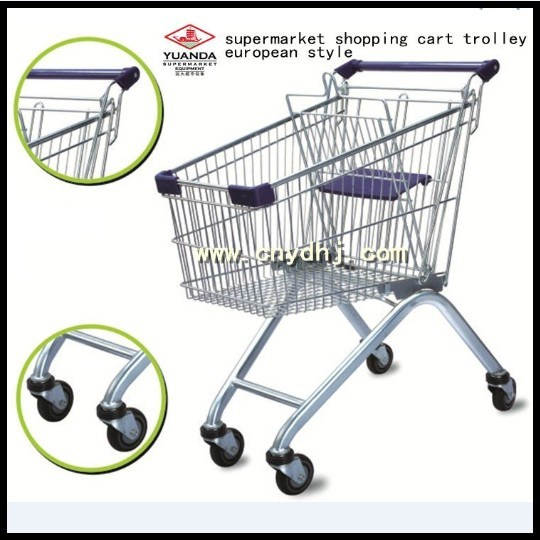 Fashionable European Style Metal Shopping Trolley Cart