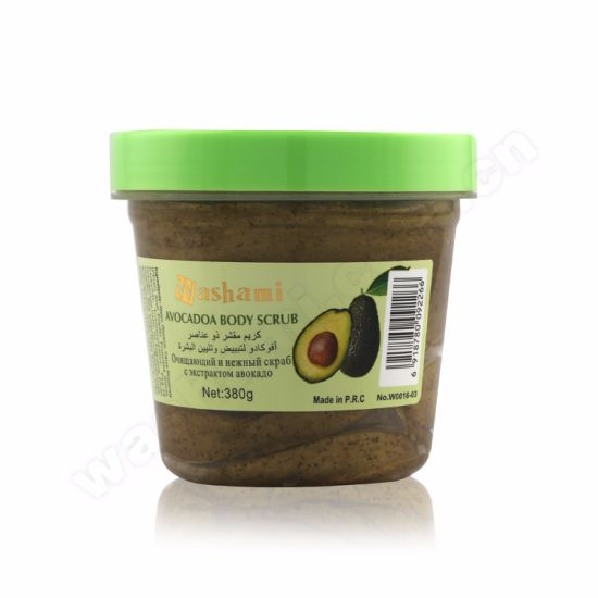 Washami Box-Packed Organic Natural Plant Essence Whitening Body Scrub with Pecan Shell Powder pictures & photos