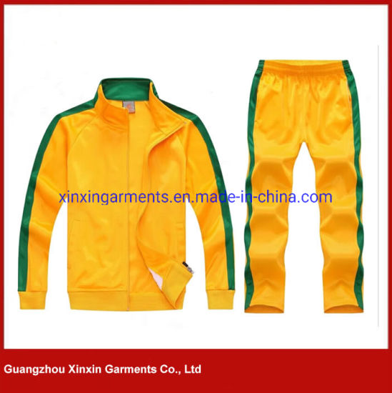 Guangzhou Factory Wholesale Manufacture Cheap Polyester Sport Suit for Jogging Wear Clothes (T30) pictures & photos