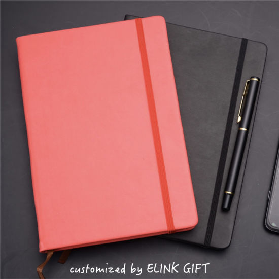 Promotional Gift Customized Moleskin Style Notebook Diary Book with Elastic Strap Band