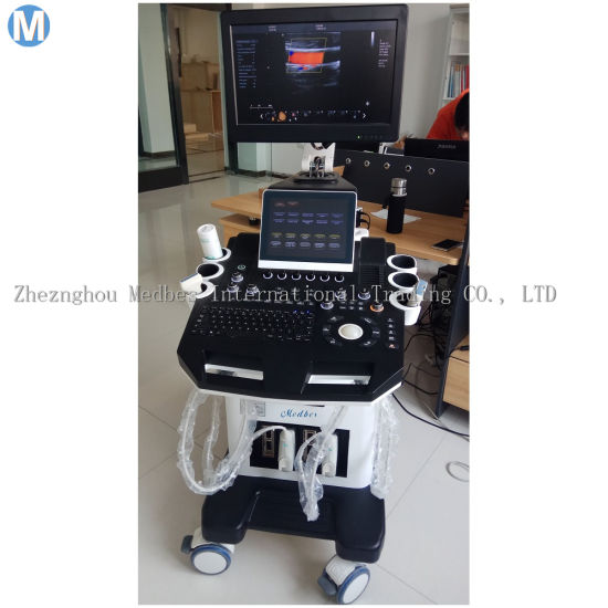 Trolley 4D Color Doppler Ultrasound Scanner