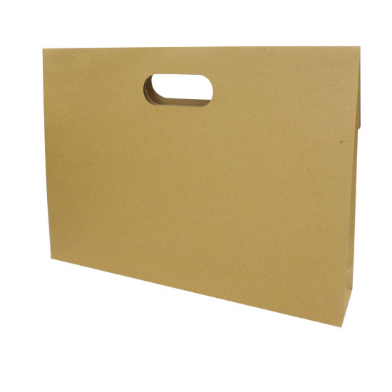 Customized Die Cut Handle Brown Kraft Paper Gift Bags