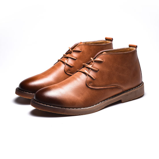 mens casual slip on boots