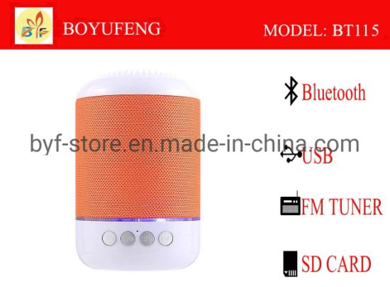 Factory Wholesale Mini Waterproof Bluetooth Speaker with Colorful LED (BT115)